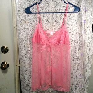 Gorgeous pink Victoria's Secret lingerie